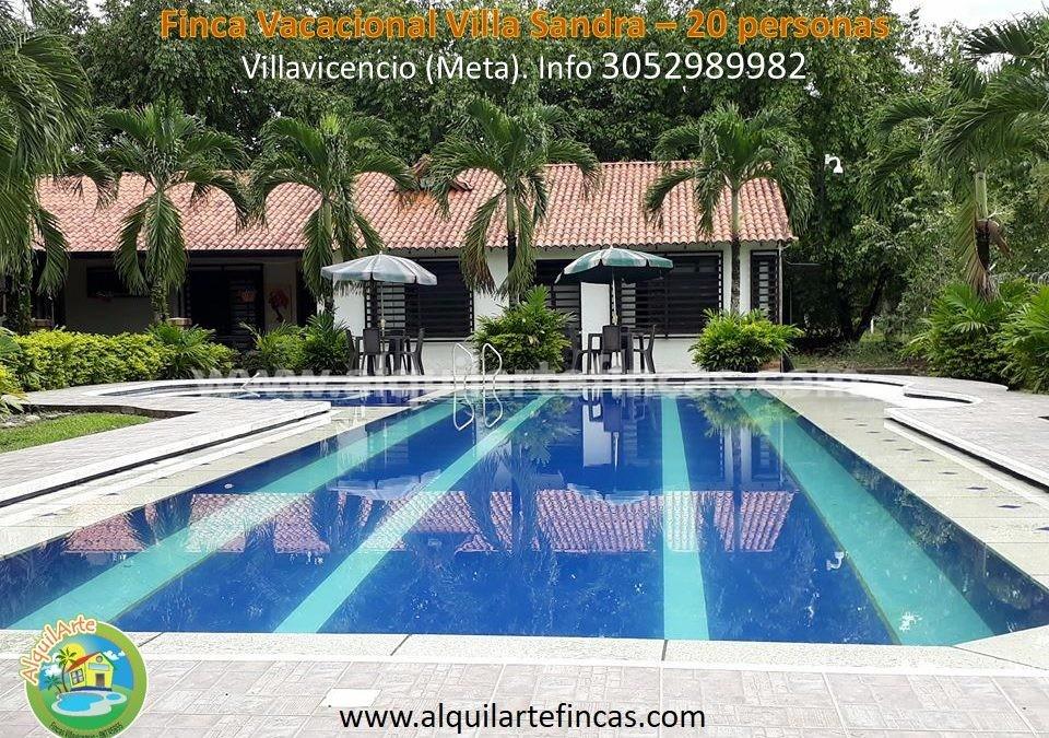 Cód 70 – Quinta Villa Sandra, Villavicencio (Meta), 20 personas